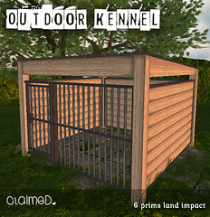 New Outdoor Kennels (ᴘɪɴᴋ | ᴄʟᴀɪᴍᴇᴅ) Tags: claimed rlv petplay cages cage dog kennel