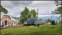 es fährt ein... (Schnitzel_bank) Tags: ivanofrankivska ukraine ясіня jassinja rail railroadphotography vlak spoorwegen railroad railway treno trein поезд gagarin m62 ukrsalisnyzja укрзалізниця sergey 2m62