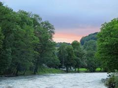 Tramonto estivo (Eli.b.) Tags: ciel sky fiume alberi trees river water colori paesaggi colours cielo acqua paesaggio landscape estate