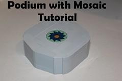 Podium with Mosaic Tutorial (-LittleJohn) Tags: lego moc technique snot cheese mosaic slope tutorial guide podium design walkthrough brickbuilt