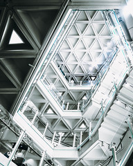 Hidden Gem (Dace Saeades) Tags: hongkong artcentre architecture structure triangles concrete white stairs