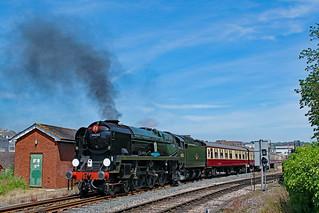 34046 'Braunton' masquerading as 34052 'Lord Dowding' at Paignton