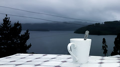 Un café para el frio ❄ (alejandroaliwen) Tags: frio coold winter lake lago lleulleu lagolleulleu terraza panoramic chile naturaleza nature outdoor picoftheday happy rain raining cold cloud cloudy coofe café paraelfrio helado landscape scapeoutdoor mountain grey bestday walk coofebreak descanso relaxtime free