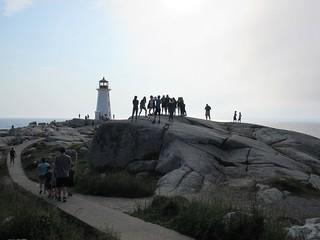 Sunny evening at the lighthouse, Peggy's Cove, Nova Scotia