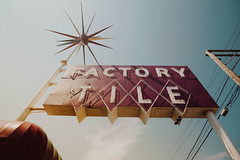 Sunshine Factory (hartsaw) Tags: neon rotosphere sign vintage signage southbend indiana factorytile spike color americana roadside alpha 12mm rokinon
