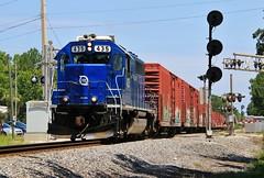 Nine O Five (BravoDelta1999) Tags: floridaeastcoast railroad fec railway jacksonville florida jax sunbeam interlocking searchlight sa signal emd gp402 435 905 manifest train