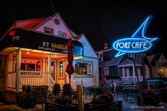 Port Cafe (SupersonicNJ) Tags: wildwood nj newjersey neon signs sign retro vintage vacation shore jersey jerseyshore port cafe portcafe breakfast night evening light lights