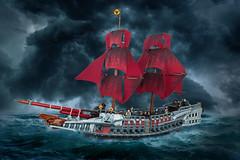 The Morrigan – Assassins Creed: Rogue (roΙΙi) Tags: assassinscreed rogue morrigan sloopofwar ship lego pirates sea sails