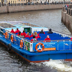 Sightseeing boat on the Moyka River in Saint Petersburg thumbnail