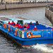 Sightseeing boat on the Moyka River in Saint Petersburg