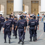 Large police presence at FIFA World Cup in Moscow thumbnail
