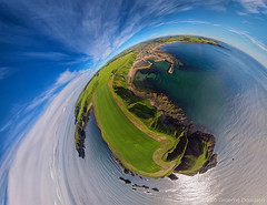 Stonehaven Little Planet 2 (G Davidson) Tags: stonehaven harbour aerial littleplanet stereographicprojection scotland aberdeenshire uk 2016