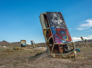 Goldfield Nevada Car Forest