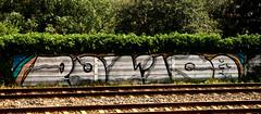 graffiti along the railway (wojofoto) Tags: graffiti nederland netherland holland trackside railway spoor spoorweg wojofoto wolfgangjosten polio