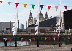 Liverpool Docks (.annajane) Tags: liverpool docks bunting pierhead mannisland alexandratower portofliverpoolbuilding liverbuilding liverbird canningdock merseyside uk england greatwesternrailway