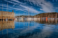 """""""Hovedøen"""", Oslo - Norway (Vest der ute) Tags: xt2 norway oslo sea sky clouds seascape water landscape quay sailboat sailboats boathouse trees reflections spring fav25 fav200"""