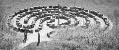 Labyrinth (Brian Negus) Tags: derbyshire crichtramwayvillage labyrinth helix rocks crich maze