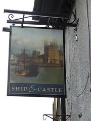 Pub Sign - Ship & Castle, Bangor Street, Caernarfon 180427 (maljoe) Tags: pubsigns pubsign pub pubs inn inns taverns tavern