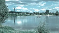 TenneT-Tower Arnhem (Ramireziblog) Tags: tennet tower toren kema arnhem gelderland netherlands landscape landschap meer lake sailboat zeilboot sky lucht canon 6d avm