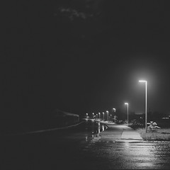 The road to hell (Bernád Rozália) Tags: yashicamat124g fujifilmneopanacros100 epsonv700 film analoque scan selfdeveloped night rainy ilfosol3