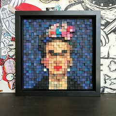 Pixelated 3D Frida Kahlo (Screw7oose) Tags: frida kahlo art painting pixel pixelated 3d