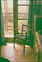 Chair (spuntotheratboy) Tags: olympus penf expired fujichrome 100 25