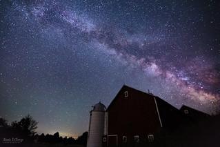July Milky Way Over Barn
