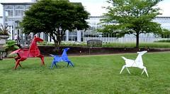 Origami Horses (pjpink) Tags: origami sculpture lewisginterbotanicalgarden lewisginterbotanicalgardens lewisginter gardens northside rva richmond virginia june 2018 summer pjpink 2catswithcameras