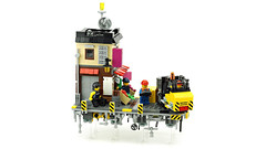 """AirCity"" Grocery store (de-marco) Tags: lego ninjago city town float flying shop grocery building house"