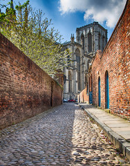 Cobbles, Walls and Minster (S Marwood) Tags: elements hdr minster wall road cobbles tree building cloud sky architecture brick canon york yorkshire