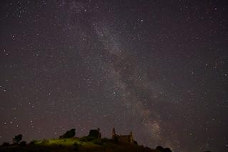 Milky Way Over Corfe Castle