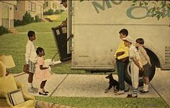 New Kids In The Neighborhood (pecooper98362) Tags: stockbridge massachusetts normanrockwellmuseum normanrockwell storyillustration negrointhesuburbs jackstar look may161967 oiloncanvas newkidsintheneighborhood integration