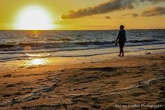 Même un coucher de soleil ne m'empêchera pas de téléphoner en vacances (thierrycoulon1) Tags: atlantique ocean sable plage sunset été thierrycoulon chatelaillon canon