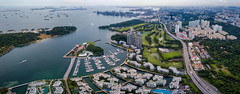 Aerial view of keppel bay with modern residence in Singapore city. (MongkolChuewong) Tags: aerial aerialview architecture bay boat building business city cityscape complex condo condominium cruise design drone export golfcourse harbor import international island keppel landmark landscape lifestyle luxury modern panorama park port residence residential resort rich river sea sentosa ship singapore singaporecity singaporean skyline skyscraper technology transport transportation travel urban view yacht sg
