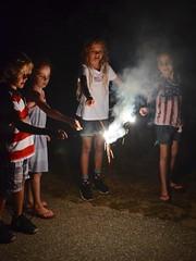Playing With Sparklers On The Fourth Of July (Joe Shlabotnik) Tags: 2018 july2018 higginsbeach violet maine gabriella sparklers carolina everett afsdxvrzoomnikkor18105mmf3556ged