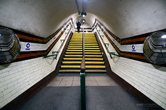 Up the stairs - Holloway Road Station (Luke Agbaimoni (last rounds)) Tags: london londonunderground londontube