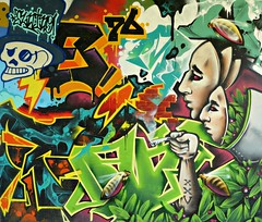 Neerpede pylon art by Dake with Reset'81 & elnino76 (Linda DV) Tags: lindadevolder lumix geotagged belgium brussels 2018 streetart art artderue graffiti neerpede ribbet panasonic colour colours urbanart urbanculture city europe capitalcity mural fresco pylons ringway highway mariusrenard anderlecht streetarthalloffame