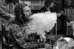 He always blows smoke (WorcesterBarry) Tags: blackwhite blackandwhite bnw street streetphotography streetphoto people places photographers life travel
