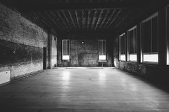 when.reason.is.a.room (jonathancastellino) Tags: abandoned derelict decay ruin ruins leica m hamilton school room window stripped floor beam beams wall ngc