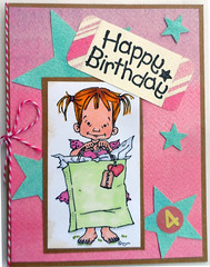 Khloe's Birthday Card (janettefuller) Tags: handmade birthday birthdaycard card happybirthday girl stars 4yearsold giftbag gifttag personalizedcard copicsketchmarkers digitalstamp momanning art crafts cardmaking papercrafts