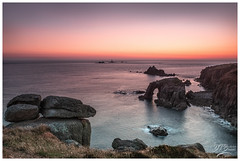 Lands End (deannno) Tags: longshipslighthouse landsend cornwall uk mft micro43 olympus olympuspenf penf sundown seascape lighthouse sunset rocks sea