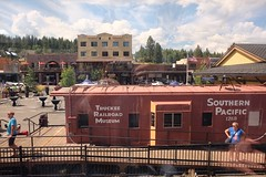 Small town USA. One of our stops was Truckee ,California. A quaint little town. (frptlady....) Tags: vaca2018 outwest california zepherline railway truckeeca