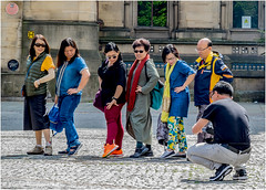 Line Dancing Japanese Style (Fermat 48) Tags: townhall manchester albertsquare japanese tourists linedance photographer canon camera 7dmarkii eos