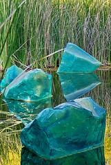 Cayetana & Caton Projects (cayetana.caton) Tags: pinterest dale chihuly cayetanacatonprojects blue polyvitro glass rocks lagoon desert botanical garden by alhikesaz via flickr art
