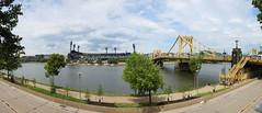 PNC Park and Robert Clemente bridge (xJosh xHammond) Tags: pittsburgh pa pennsylvania downtown robert clemente bridge baseball field pirates pnc panorama