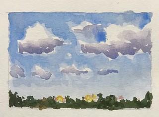 #art #miniaturewatercolorpainting #watercolors #directwatercolor #miniaturewatercolor #miniatureart #clouds