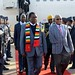 President of Zimbabwe Emmerson Mnangagwa arrives at Waterkloof Air Force Base ahead of the BRICS Africa Outreach Summitzim arrive3