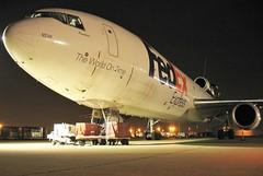 N556FE FedEx Express MD-10-10 at KCLE (GeorgeM757) Tags: n556fe n160aa n68aa fedexexpress fedex md1010f dc1010 american hawaiian national panam kcle clevelandhopkins georgem757 nightairplane aircraft alltypesoftransport aviation airfreight canon cargo freighter mcdonnelldouglas