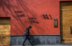 2018 - Mexico City - Doors/Windows - 3 of 13 (Ted's photos - For Me & You) Tags: 2018 cdmx cityofmexico cropped mexicocity nikon nikond750 nikonfx tedmcgrath tedsphotos tedsphotosmexico vignetting door doors doorway wall backpack male man boy shadow shadows streetscene street 13 people peopleandpaths