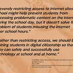 "Educational Postcard:  ""Rather than restricting access, we should be training students in digital citizenship so that they can safely and successfully use technology at school and at home."" thumbnail"